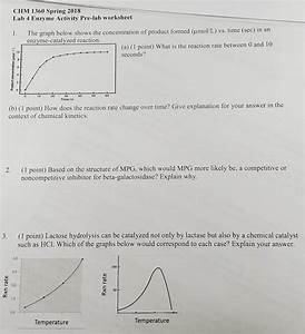 Solved  Chm 1360 Spring 2018 Lab 4 Enzyme Activity Pre
