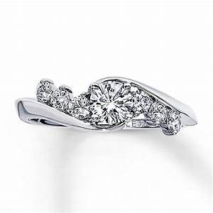 kay leo engagement ring 3 4 ct tw diamonds 14k white gold With leo diamond wedding ring