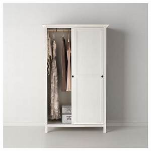 hemnes wardrobe with 2 sliding doors white stain 120x197 With armoire ikea porte coulissante