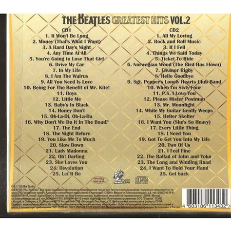 Greatest Hits Vol 2 By The Beatles, Cd X 2 With