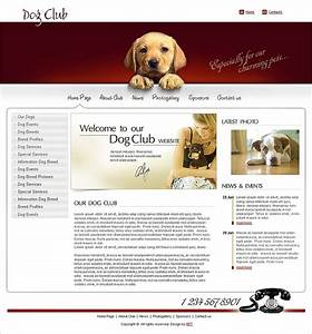Free dog club website template for Dog boarding website