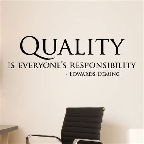 modern wall mirror quality is everyone 39 s responsibility wall quotes decal