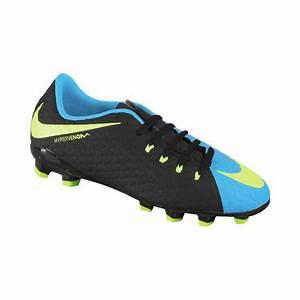 Nike Youth HyperVenom Phelon III FG Black Neon Green Blue