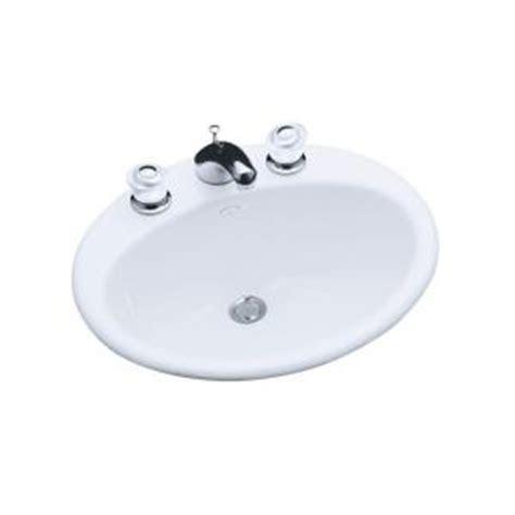 kohler farmington bathroom sink kohler farmington self rimming bathroom sink in white
