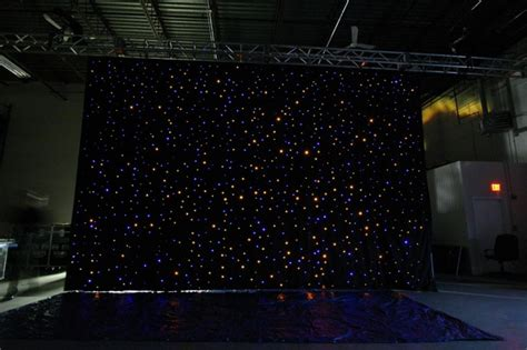fiber optic curtain used fiber optic curtain by advanced lighting systems