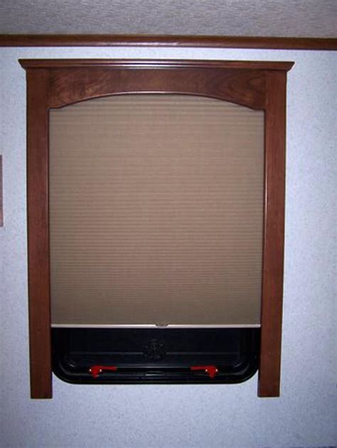 rv window treatments  fine finished wood window treatments traveling   trailer decor
