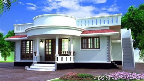 modern single storied home designs  sq ft