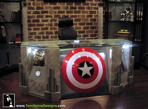 themed furniture the avengers desk movie themed furniture tom spina designs 187 tom spina designs
