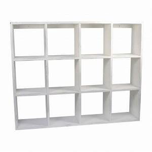 Etagere Blanche Et Bois : etagere blanche bois 12 cases ib laursen 2225 11 ~ Teatrodelosmanantiales.com Idées de Décoration