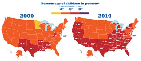 growth  child poverty mapped  county    states