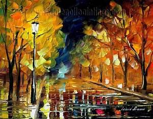 Modern impressionism palette knife oil painting kp110 ...