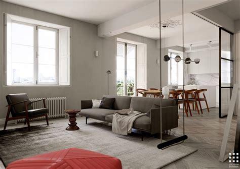 studio apartment  glass wall bedroom  swing