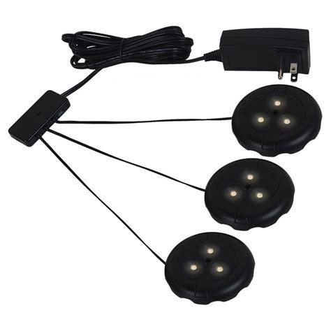 outdoor led puck lights sea gull lighting ambiance lx led black puck light kit