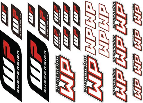 Wp Suspension Bike Forks Decals Stickers Graphic Set Logo