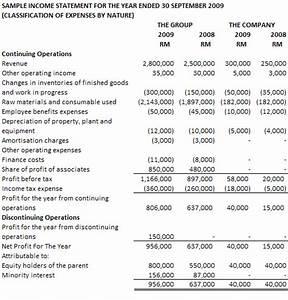 Income Statement Sample | New Calendar Template Site