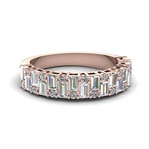 tri color  ring stackable diamond anniversary gifts band