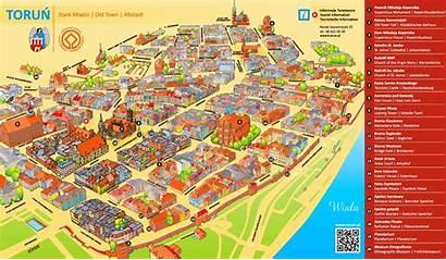 Map Tourist Toruń Poland Torun Maps Ontheworldmap