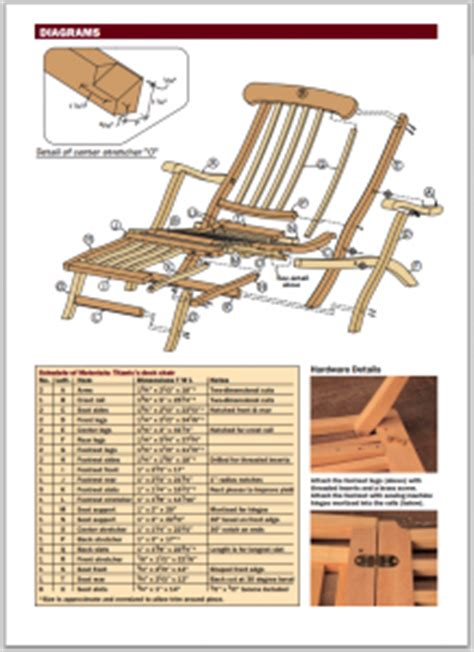 titanic deck chair plans free woodideas