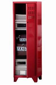 Armoire Metallique Chambre Ado : armoire de chambre metallique ~ Melissatoandfro.com Idées de Décoration