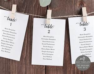 Wedding Seating Chart Template Editable Instant Download