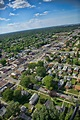 Aerial photo of Hammond, Indiana looking north up Calumet ...