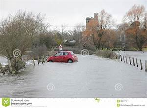 Road Closed Sign With Floodwater Stock Image ...