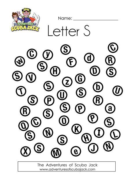 Kindergarten Printable Preschool Worksheets Online  The Adventures Of Scuba Jack