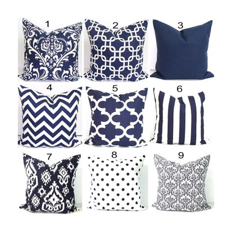 Navy Decorative Pillows by Navy Blue Pillows 24x24 Inch Decorative Pillow Cover Home