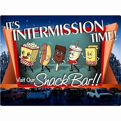 Intermission Drive Theater Bar Snack Clip Movies