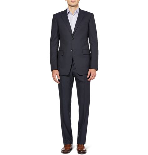 lacoste casual navy gucci navy brera slim fit wool suit in blue for lyst