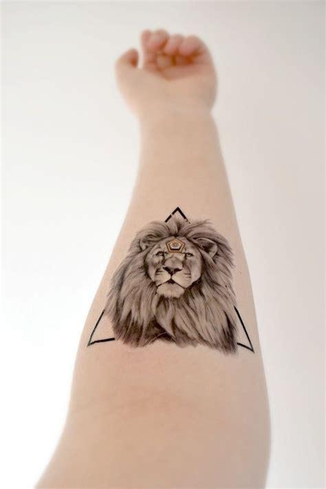 ideas  geometric lion tattoo  pinterest