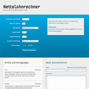 Lohn Berechnen Netto : nettolohnrechner der beliebte brutto netto gehaltsrechner 2017 ~ Themetempest.com Abrechnung