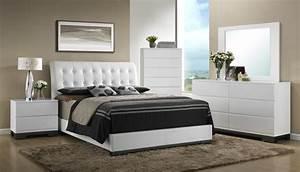 Avery, White, Modern, Bedroom, Set