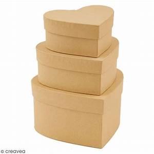 Boite En Carton À Décorer : bo tes gigognes en carton coeurs 14 5 cm 3 pcs boite en carton d corer creavea ~ Melissatoandfro.com Idées de Décoration
