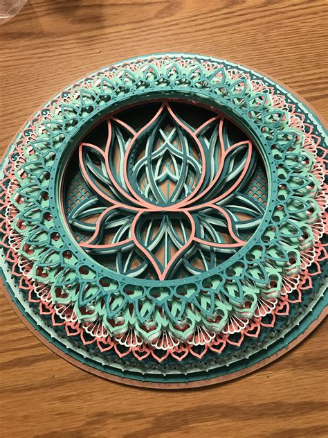 If your svg contains score lines, click on the main layer of your svg (if your svg does not contain score lines, skip to step 14). Cricut 3D Mandala - Layered SVG Cut File - Of The Best ...