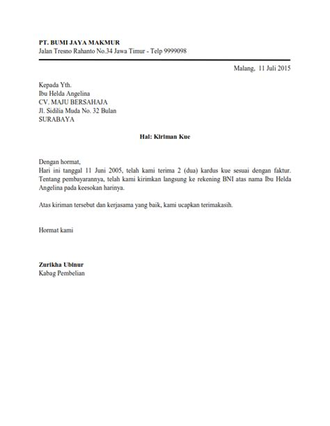 Contoh Surat Lamaran Kerja Bahasa Inggris Resmi