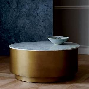 marble metal drum coffee table west elm With west elm drum coffee table