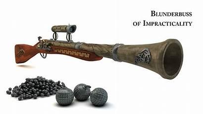 Blunderbuss Impracticality Gun Kurczak Musket Weapons Axe