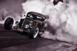 Rat Rod Doing Burnouts