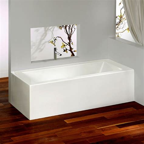 tiling a bathtub alcove corner bathtub with integrated tiling flanges 2 sides by