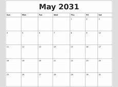 April 2031 Free Printable Calendar Templates