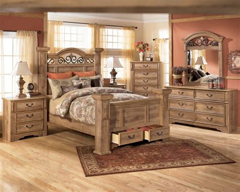 ashley whimbrel forge king bedroom suite rustic