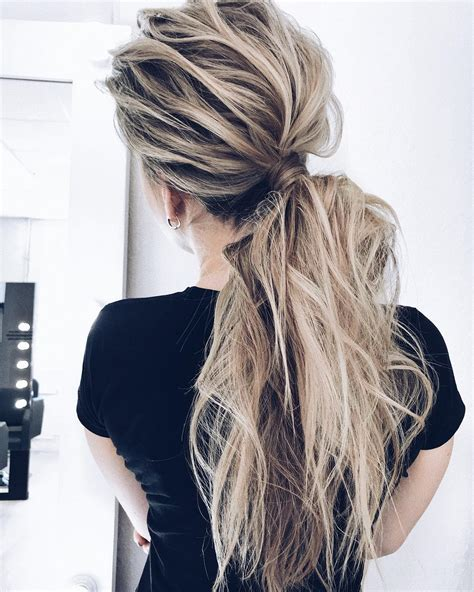 hairstyles ponytail hair long styles cute summer cool teased creative hairstyle super messy
