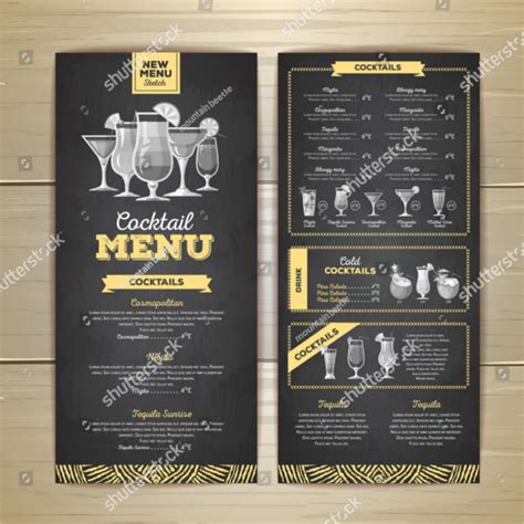 cocktail menu template 54 drink menu templates free psd word design ideas
