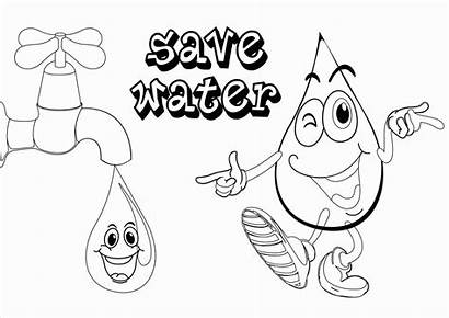 Water Drawing Conservation Save Sketch Poster Coloring