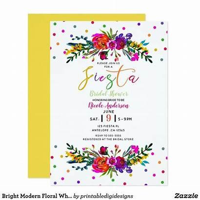 Bridal Shower Invitations Zazzle Fiesta