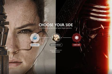 Google Makes You Choose Light Or Dark Side Of The Force?