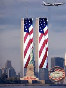 9 11 Twin Towers American Flag