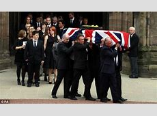 John McAleese funeral Coffin draped in Union flag for SAS