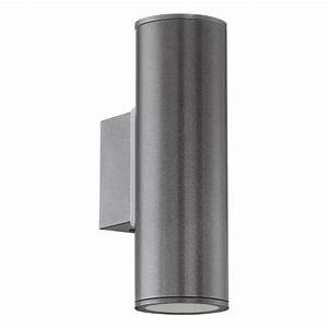 eglo riga twin led outdoor wall light anthracite With outdoor wall lights for sale uk